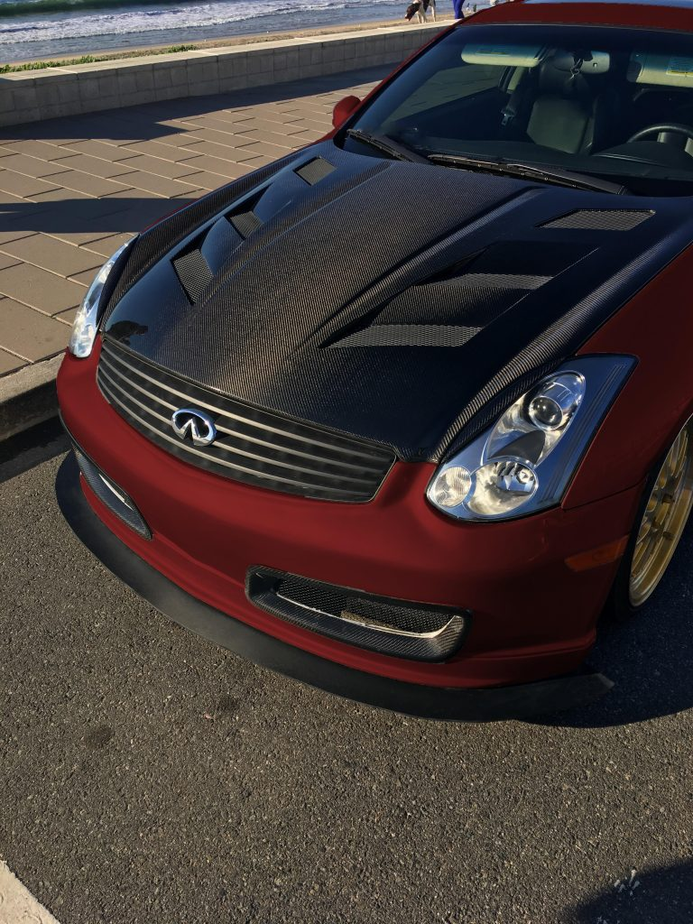 2017 Infiniti G37 >> G35 Coupe Front Splitter for Stock / Nismo Bumper